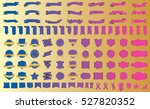 label ribbon banner blue vector ... | Shutterstock .eps vector #527820352