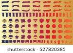 label ribbon banner red vector... | Shutterstock .eps vector #527820385