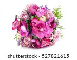 wedding bouquet made of roses... | Shutterstock . vector #527821615