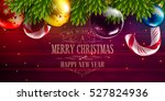 christmas vector background... | Shutterstock .eps vector #527824936