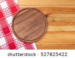 pizza board with napkin on... | Shutterstock . vector #527825422