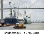 ships in port in the port of... | Shutterstock . vector #527838886