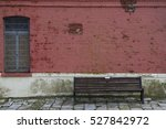 Wooden Bench Against Wall