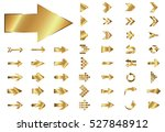 arrow vector gold curve line up ... | Shutterstock .eps vector #527848912