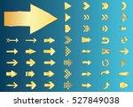 arrow vector gold curve line up ... | Shutterstock .eps vector #527849038