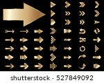 arrow vector gold curve line up ... | Shutterstock .eps vector #527849092