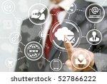 business mail cloud marketing... | Shutterstock . vector #527866222