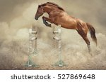 Stock photo to school a jumper of horse 527869648