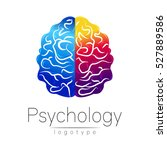 modern brain logo of psychology.... | Shutterstock .eps vector #527889586