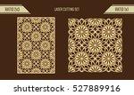 diy laser cutting set. woodcut... | Shutterstock .eps vector #527889916