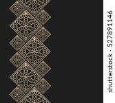 golden frame in oriental style. ... | Shutterstock .eps vector #527891146