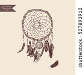 dreamcatcher. hand drawn... | Shutterstock .eps vector #527893912