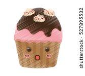 delicious cupcake dessert icon... | Shutterstock .eps vector #527895532
