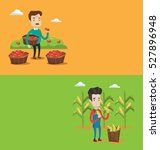 two agricultural banners with... | Shutterstock .eps vector #527896948