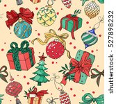 christmas pattern with... | Shutterstock .eps vector #527898232