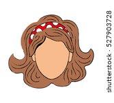 woman comic face icon vector... | Shutterstock .eps vector #527903728