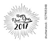 happy new year card with... | Shutterstock .eps vector #527905348