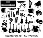 music instruments | Shutterstock .eps vector #52790605