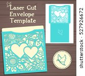 lasercut vector wedding... | Shutterstock .eps vector #527926672