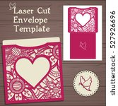 lasercut vector wedding... | Shutterstock .eps vector #527926696
