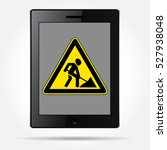 black tablet with the image of... | Shutterstock .eps vector #527938048