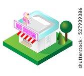 detailed isometric ice cream... | Shutterstock .eps vector #527939386