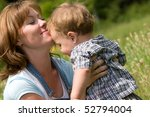 happy mother and her little son ... | Shutterstock . vector #52794004