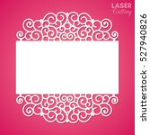 laser cut paper lace frame ... | Shutterstock .eps vector #527940826