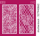 ornamental panels with rose... | Shutterstock .eps vector #527940862