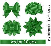 set of green bows.vector... | Shutterstock .eps vector #527943676