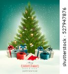 christmas background with a... | Shutterstock .eps vector #527947876