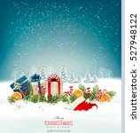 holiday christmas background... | Shutterstock .eps vector #527948122