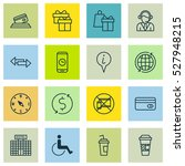 set of 16 traveling icons. can... | Shutterstock .eps vector #527948215