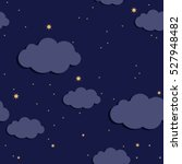 seamless pattern with clouds in ... | Shutterstock .eps vector #527948482
