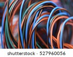 Closeup Of Electric Cables