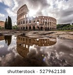 Roman Colosseum In Rome Italy...