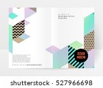 geometric background template... | Shutterstock .eps vector #527966698