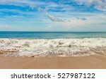 beach in bali called dreamland. ... | Shutterstock . vector #527987122