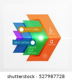 business paper infographic...   Shutterstock .eps vector #527987728