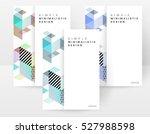 geometric background template... | Shutterstock .eps vector #527988598