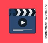 flat movie clapperboard symbol... | Shutterstock .eps vector #527988772