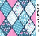 seamless pattern. patchwork.... | Shutterstock .eps vector #527989192