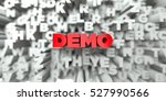demo    red text on typography... | Shutterstock . vector #527990566