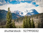 beautiful snowy mountains in... | Shutterstock . vector #527993032