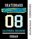 california dreaming skateboard... | Shutterstock .eps vector #528004282