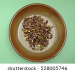 pistachios nuts raw food in a... | Shutterstock . vector #528005746