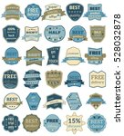 set of thirty badges with... | Shutterstock . vector #528032878