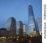 one wtc and adjacent... | Shutterstock . vector #528043102