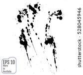 vector stains  blots  splashes... | Shutterstock .eps vector #528045946