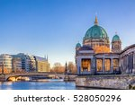 Stock photo berlin cathedral berliner dom and museum island museumsinsel reflected in spree river berlin 528050296